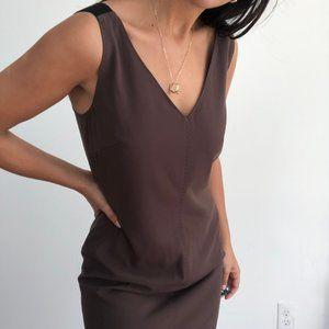 Les Copains brown sleeveless shift dress
